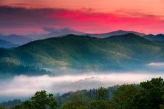 Восход солнца на бульваре предгорья обозревает Стоковые Фотографии RF