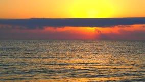 Восход солнца на видео пляжа с звуком сток-видео