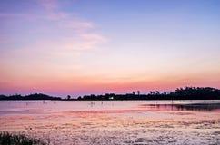 Восход солнца на водонапорной башне Стоковая Фотография