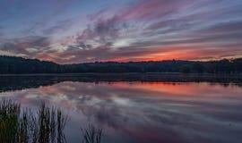 Восход солнца на Ганновере стоковое изображение rf