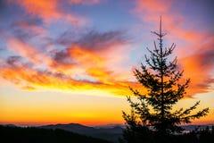 Восход солнца над горами Стоковая Фотография RF