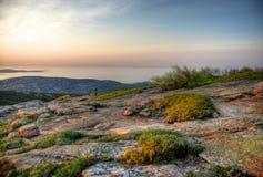 Восход солнца на горе Кадиллака Стоковое фото RF
