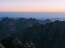 Восход солнца на горе Синай Стоковое фото RF