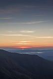 Восход солнца на горе Стоковая Фотография RF
