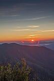 Восход солнца на горе Стоковое фото RF