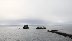 Восход солнца на горизонте моря Стоковые Фото