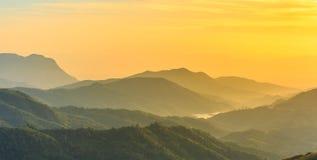 Восход солнца над горой звенел Стоковые Фото