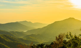 Восход солнца над горой звенел Стоковое Фото