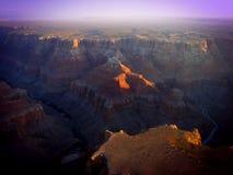 Восход солнца над грандиозным каньоном Стоковая Фотография RF