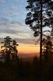 Восход солнца на гребне Стоковые Изображения