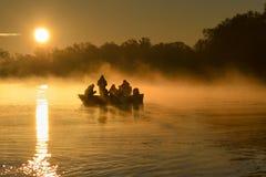 Восход солнца на Дунае Стоковая Фотография RF