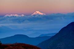 Восход солнца на держателе Kanchenjugha, на зоре, Сикким Стоковое фото RF