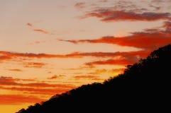 Восход солнца над желтой горой Китаем стоковая фотография rf