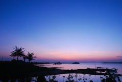 Восход солнца на заливе Стоковые Фотографии RF