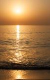 Восход солнца на Индийском океане/Фуджейре ОАЭ Стоковая Фотография