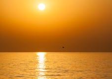 Восход солнца на Индийском океане/Фуджейре ОАЭ Стоковое фото RF