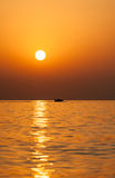 Восход солнца на Индийском океане/Фуджейре ОАЭ Стоковые Изображения RF