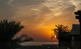 Восход солнца на Индийском океане/Фуджейре ОАЭ Стоковое Фото