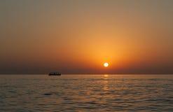 Восход солнца на Индийском океане/Фуджейре ОАЭ Стоковые Изображения