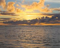 Восход солнца на Кауаи стоковое изображение