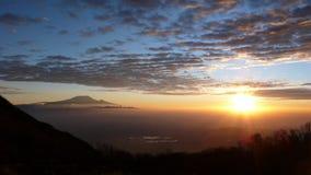 Восход солнца над Килиманджаро Стоковое Фото