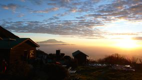 Восход солнца над Килиманджаро Стоковое фото RF