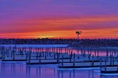 Восход солнца на Марине Стоковое фото RF
