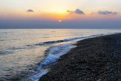 Восход солнца над морем, Синаем Египтом Стоковые Фотографии RF