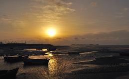 Восход солнца над морем Стоковое Изображение RF