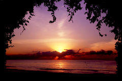 Восход солнца над морем Стоковые Изображения RF
