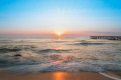 Восход солнца над морем Стоковые Фотографии RF