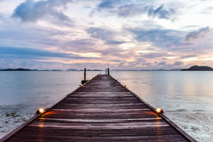 Восход солнца над морем Andaman Стоковое Фото