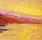 Восход солнца на море, картина, изображение бесплатная иллюстрация