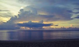 Восход солнца на море Стоковое Изображение