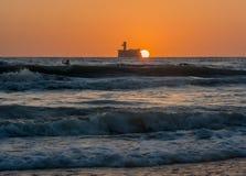 Восход солнца на море Стоковые Изображения RF