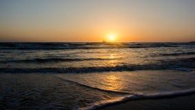 Восход солнца на море Стоковое Фото