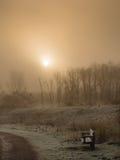 Восход солнца на морозном утре Стоковая Фотография RF