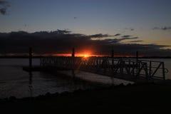 Восход солнца над молой Стоковое фото RF