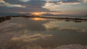 Восход солнца на низком месте стоковые фотографии rf