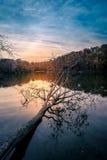 Восход солнца на озере тритон Стоковые Фото
