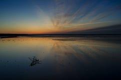Восход солнца на озере Стоковое Фото