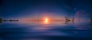 Восход солнца на озере Benbrook стоковая фотография