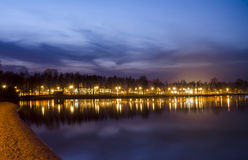 Восход солнца на озере Pogoria Стоковые Изображения RF