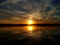 Восход солнца над озером 6 Стоковая Фотография RF