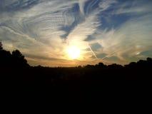 Восход солнца над озером 12 Стоковое Изображение