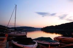 Восход солнца над озером Hopatcong, Нью-Джерси Стоковая Фотография
