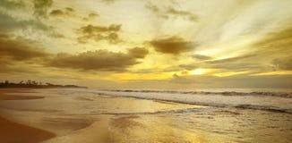 Восход солнца над океаном Стоковая Фотография