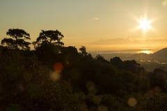 Восход солнца над океаном Стоковые Изображения