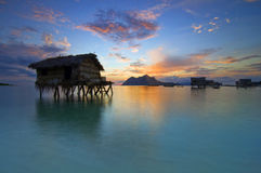 Восход солнца на острове Maiga Стоковые Фото