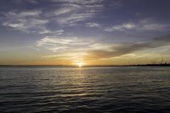 Восход солнца на острове Sanibel Стоковые Изображения RF